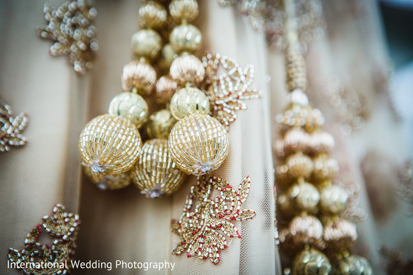 Lengha details in San Jose, CA Sikh Wedding by International Wedding Photography
