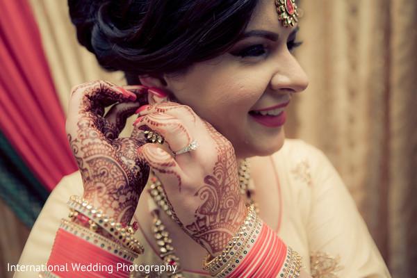 Bride getting ready in San Jose, CA Sikh Wedding by International Wedding Photography