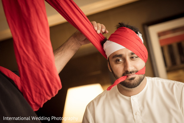 Groom getting ready in San Jose, CA Sikh Wedding by International Wedding Photography