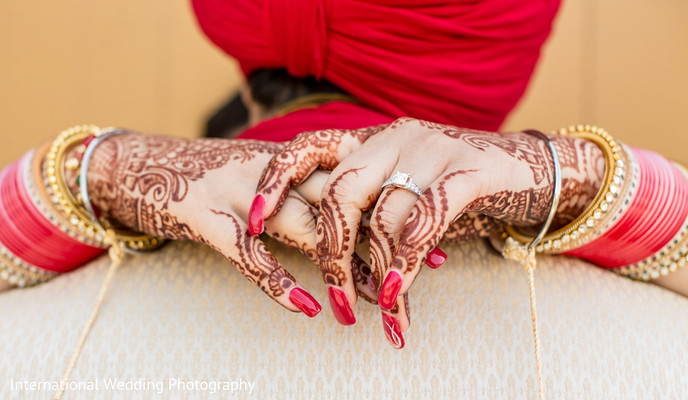 Indian wedding portrait in San Jose, CA Sikh Wedding by International Wedding Photography
