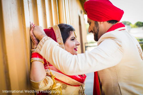 Indian wedding portrait in San Jose, CA Sikh Wedding by International Wedding Photography
