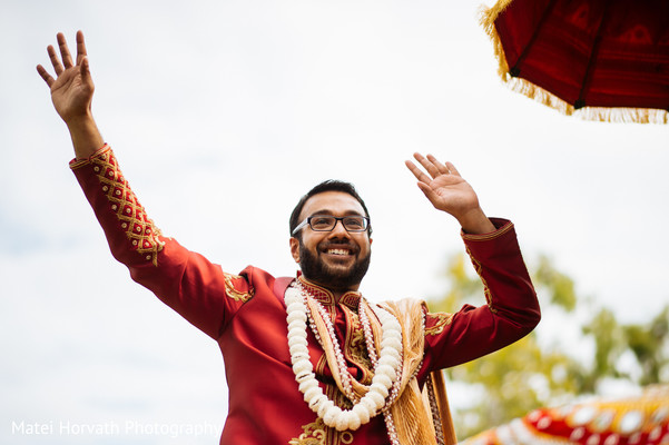 Baraat in Newport Beach, CA Indian Wedding by Matei Horvath Photography