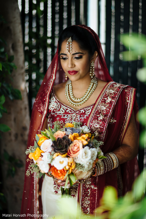 Indian bride in Newport Beach, CA Indian Wedding by Matei Horvath Photography