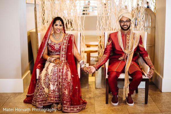 First look in Newport Beach, CA Indian Wedding by Matei Horvath Photography