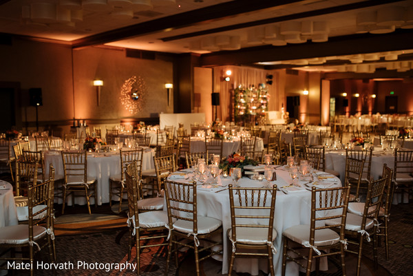 Reception decor in Newport Beach, CA Indian Wedding by Matei Horvath Photography