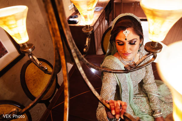 Hair and makeup in Dallas, TX South Asian Wedding by VEK Photo