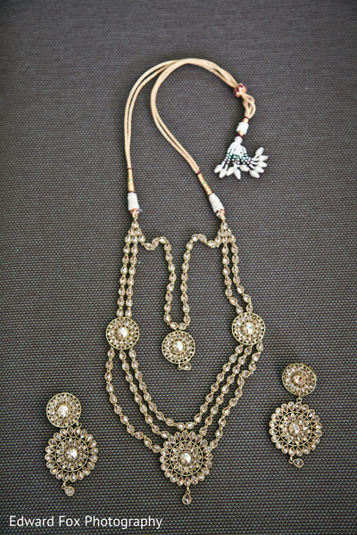 Bridal Jewelry Kundan in Chicago, IL Indian Wedding by Edward Fox Photography