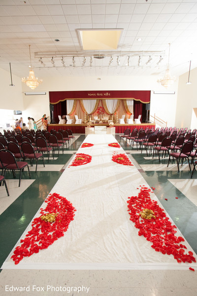 Indoor Mandap in Chicago, IL Indian Wedding by Edward Fox Photography