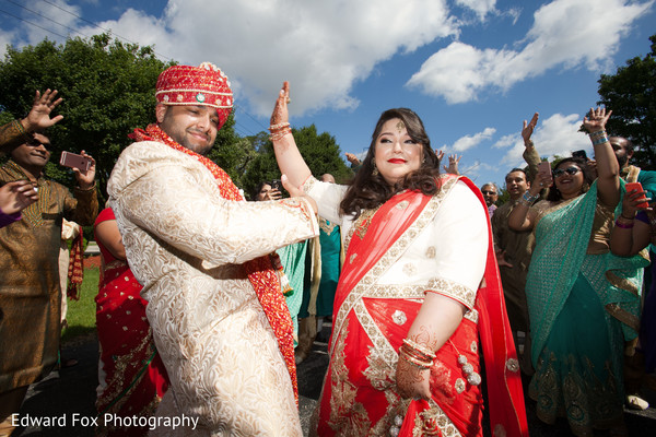 Dancing Bride and Groom in Chicago, IL Indian Wedding by Edward Fox Photography