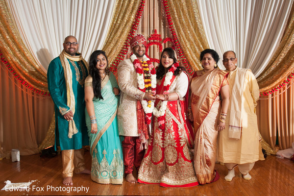 Family in Chicago, IL Indian Wedding by Edward Fox Photography