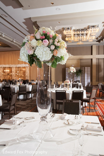 Centerpiece in Chicago, IL Indian Wedding by Edward Fox Photography