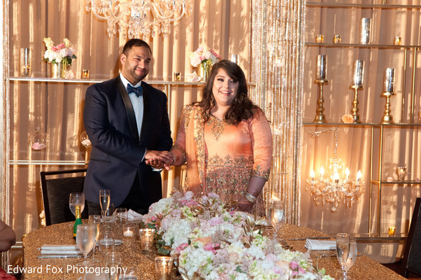 Couple Reception in Chicago, IL Indian Wedding by Edward Fox Photography