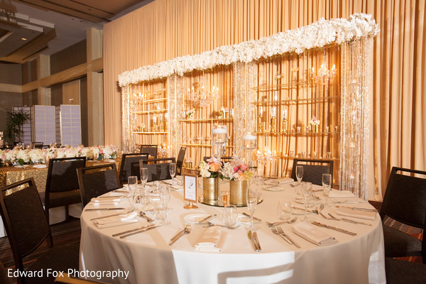 Reception Decor in Chicago, IL Indian Wedding by Edward Fox Photography
