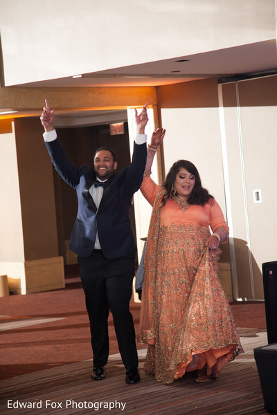 Reception Entrance in Chicago, IL Indian Wedding by Edward Fox Photography