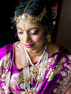 Bengali bride with purple sari