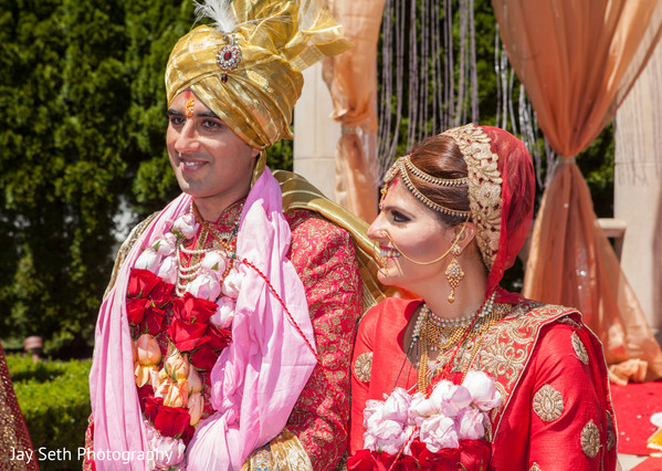 Ceremony portrait in Rockleigh NJ Indian Wedding by Jay Seth Photography