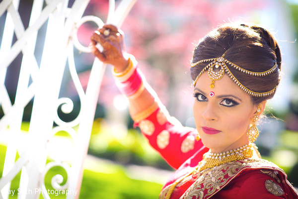 Indian bridal portrait in Rockleigh NJ Indian Wedding by Jay Seth Photography