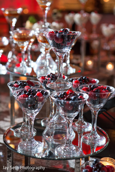 Cherry wedding dessert in Rockleigh NJ Indian Wedding by Jay Seth Photography