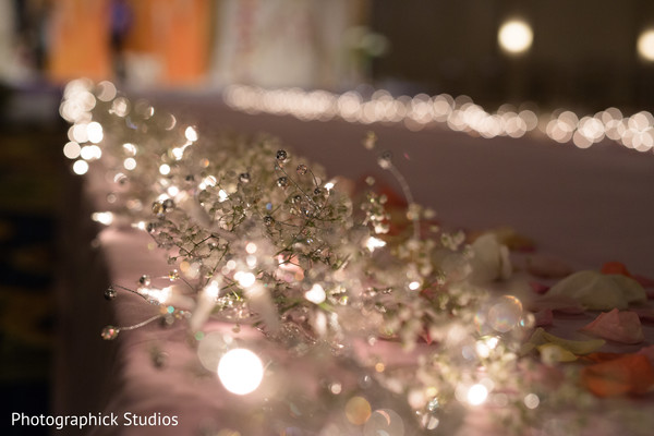 Candle reception decor in Baltimore, MD Indian Wedding by Photographick Studios