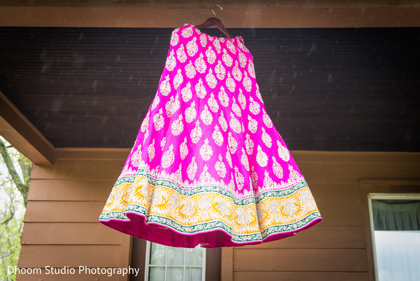 Pink lengha in Delaware, PA Indian Wedding by Dhoom Studio Photography