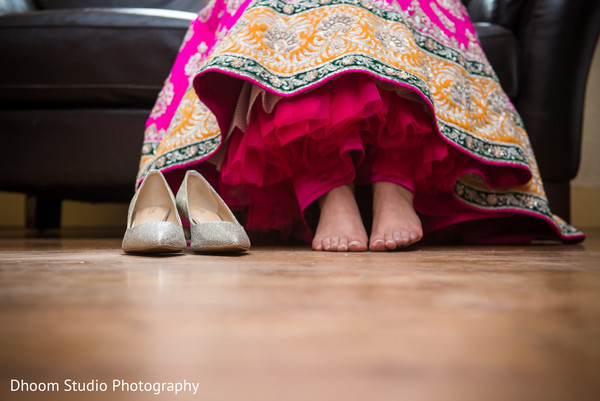 Bridal shoes in Delaware, PA Indian Wedding by Dhoom Studio Photography