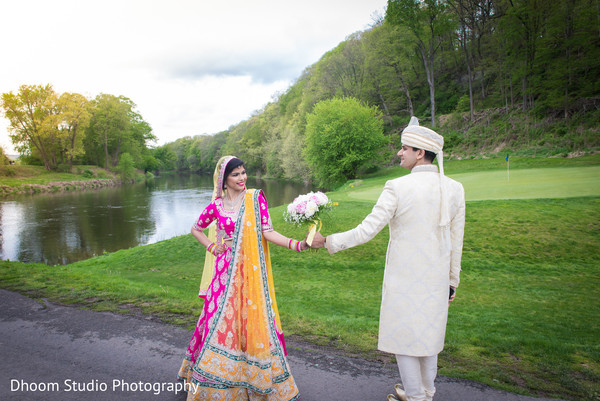 First look in Delaware, PA Indian Wedding by Dhoom Studio Photography
