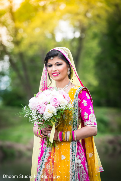 Indian bridal portrait in Delaware, PA Indian Wedding by Dhoom Studio Photography