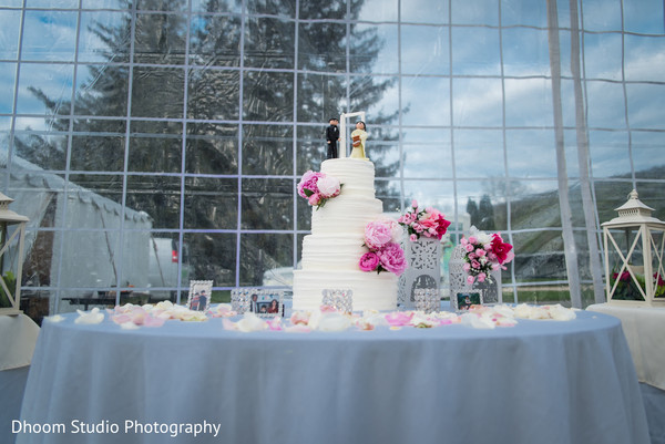 Wedding cake in Delaware, PA Indian Wedding by Dhoom Studio Photography