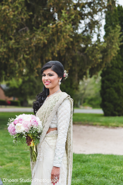 Indian bride in Delaware, PA Indian Wedding by Dhoom Studio Photography