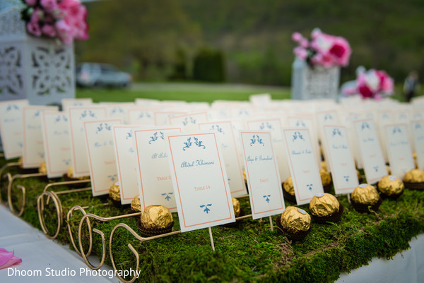 place cards,escort cards,indian wedding details