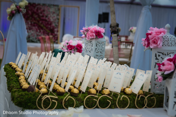 Place cards in Delaware, PA Indian Wedding by Dhoom Studio Photography