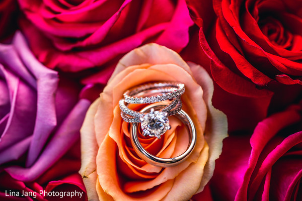 Wedding rings in Jersey City, New Jersey Indian Wedding by Lina Jang Photography