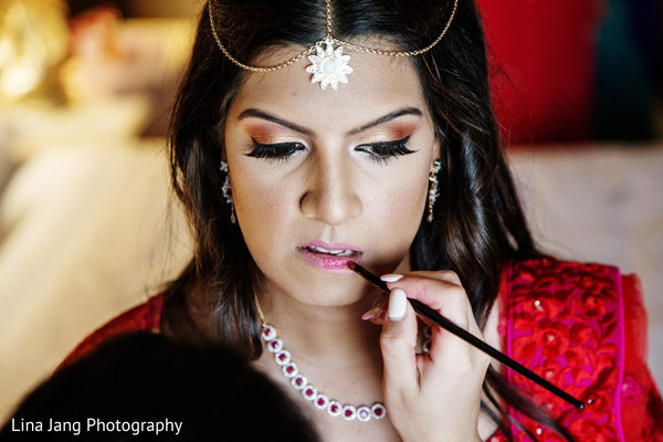 Makeup in Jersey City, New Jersey Indian Wedding by Lina Jang Photography