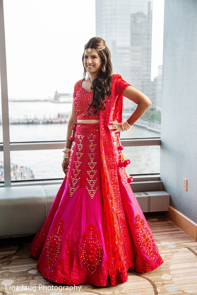 Indian bride in Jersey City, New Jersey Indian Wedding by Lina Jang Photography