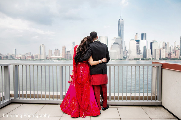 First portraits in Jersey City, New Jersey Indian Wedding by Lina Jang Photography
