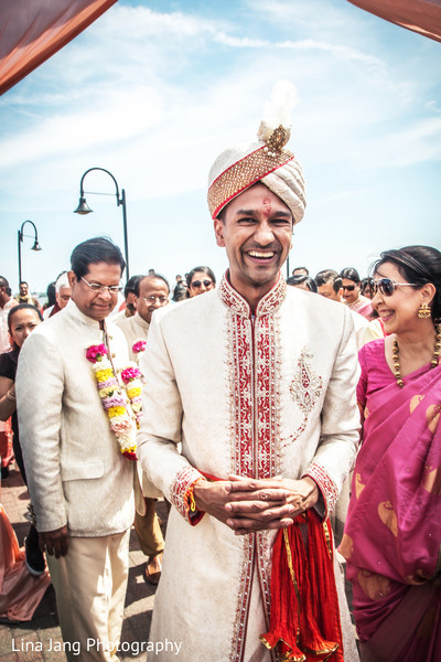 Baraat in Jersey City, New Jersey Indian Wedding by Lina Jang Photography