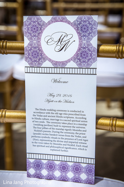Wedding signs in Jersey City, New Jersey Indian Wedding by Lina Jang Photography
