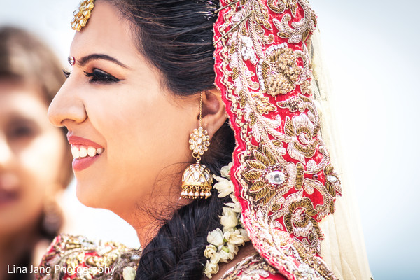 Indian bride makeup in Jersey City, New Jersey Indian Wedding by Lina Jang Photography