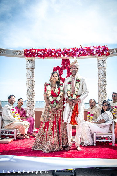 Indian wedding ceremony in Jersey City, New Jersey Indian Wedding by Lina Jang Photography