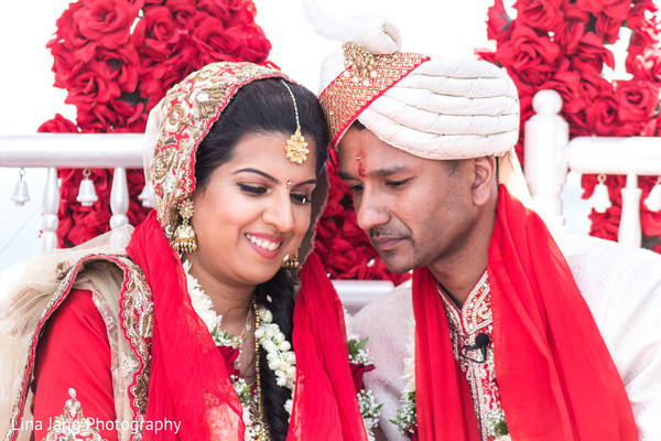 Hindu ceremony in Jersey City, New Jersey Indian Wedding by Lina Jang Photography
