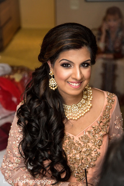 Indian bridal portrait in Jersey City, New Jersey Indian Wedding by Lina Jang Photography
