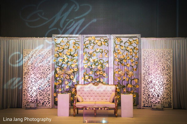 Sweetheart stage in Jersey City, New Jersey Indian Wedding by Lina Jang Photography