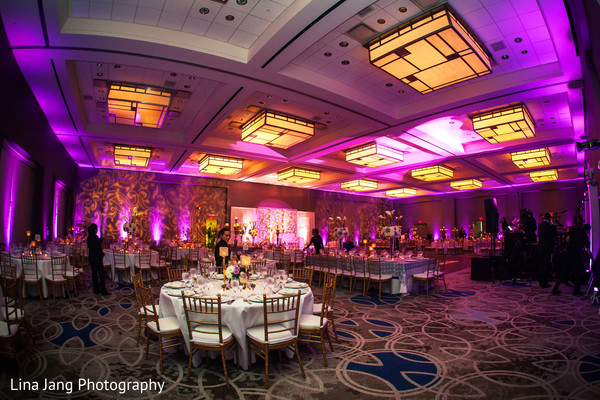 Reception decor in Jersey City, New Jersey Indian Wedding by Lina Jang Photography
