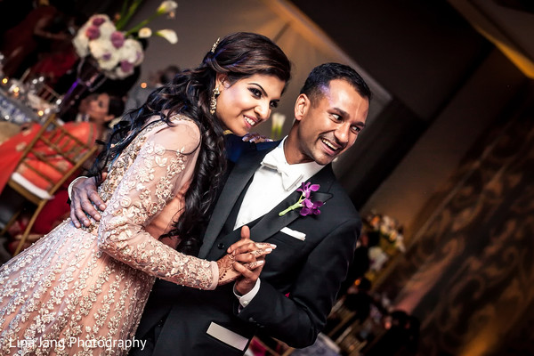 Reception portraits in Jersey City, New Jersey Indian Wedding by Lina Jang Photography