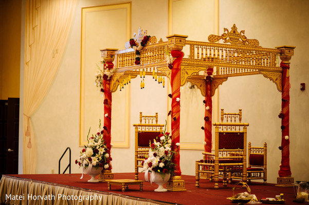 Indoor mandap in Somerset, NJ Sikh Wedding by Matei Horvath Photography