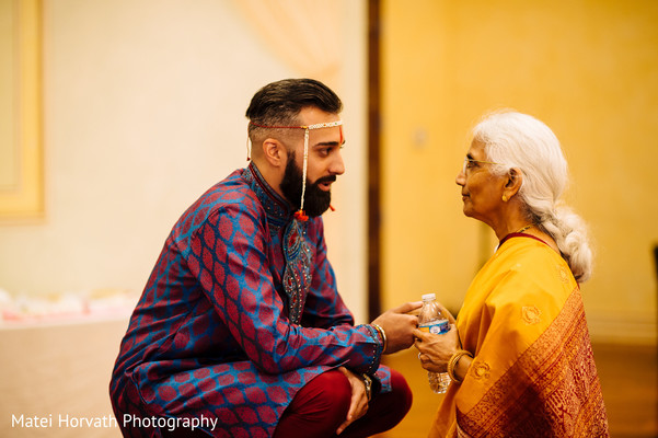 Groom and grandma in Somerset, NJ Sikh Wedding by Matei Horvath Photography