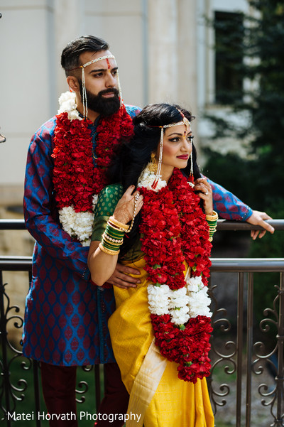 Jai mala in Somerset, NJ Sikh Wedding by Matei Horvath Photography