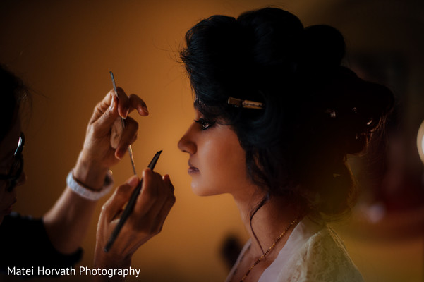 Bridal makeup in Somerset, NJ Sikh Wedding by Matei Horvath Photography