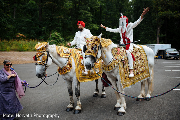 Horse for Indian groom in Somerset, NJ Sikh Wedding by Matei Horvath Photography
