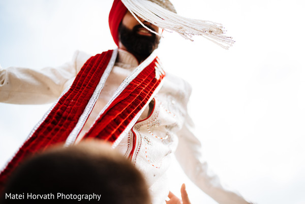 Groom portrait in Somerset, NJ Sikh Wedding by Matei Horvath Photography